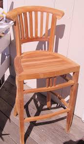 Used Wooden Captains Chairs by Island Teak Company