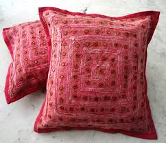 Large Decorative Couch Pillows by Red Couch Pillows Indian Embroidered Throw Pillows For Couch