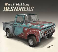 100 F100 Ford Truck ArtStation Rust Valley Restorers 08 1964