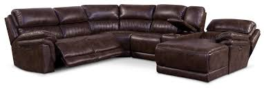 monterey 6 piece power reclining sectional with right facing