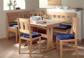 Dining Room Bench Seating Wooden Kitchen Table With Back Round Corner