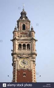 chambre de commerce de lille the bell tower of chambre de commerce lille stock photo
