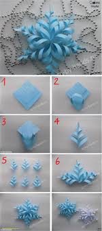 Room Decoration With Paper Cuttings Step By Awesome Make A 3d Snowflake