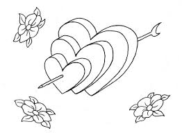 Online Coloring Pages With Hearts 81 About Remodel Books