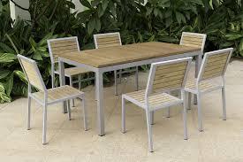 Beautiful Wood Patio Dining Set Remodel Plan Outdoor Table Floor Water Damage
