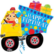 HAPPY BIRTHDAY DOG AND DUMP TRUCK SHAPE A 31