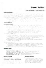 Resume Summary Examples Entry Level Sales Ability Skill Section Of Exam