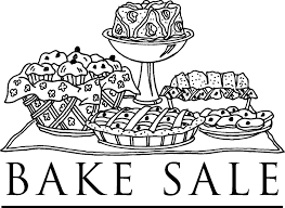 Bake Sale Black And White Clipart