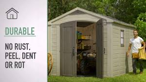 Keter Storage Shed Home Depot by Keter Factor 8x11 Shed Youtube