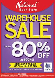 National Book Store Warehouse Sale SM Center Muntinlupa April 2015