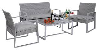 4 patio furniture set contemporary outdoor lounge sets
