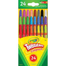 Crayola Bathtub Crayons 18 Vibrant Colors by Amazon Com Crayola Mini Twistables Crayons Pack Of 1 24 Count
