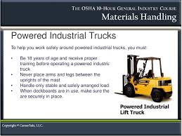 Material Handling INSTRUCTOR'S NOTES: - Ppt Download Forklift Safety For Ramps Slopes And Inclines Prolift Egiona Otic Its The Pits Employer Guide To Liability In Workplace The Osha Standard Powered Industrial Truck Traing Oshas Top 10 Most Cited Vlations Fiscal Year 2015 December All Categories Stac Card Drumbeat Ignored As Often Heard 1910178 Truck Checklist Blog Lift Capacity Calculator Regional Notice Osha Powered Industrial Cerfication Unique 8 Best Forklift Onsite Traing Only 89 Per Person