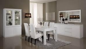 salle à manger complète design laquée blanche cristal salle à