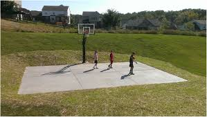 Backyards: Trendy Basketball Backyard Court. Backyard Basketball ... Backyard Basketball Court Multiuse Outdoor Courts Sport Sketball Court Ideas Large And Beautiful Photos This Is A Forest Green Red Concrete Backyard Bar And Grill College Park Go Green With Home Gyms Inexpensive Design Recreational Versasport Of Kansas 24x26 With Canada Logo By Total Resurfacing Repairs Neave Sports Simple Hoop Adorable Dec0810hoops2jpg 6 Reasons To Install Synlawn Small Back Yard Designs Afbead