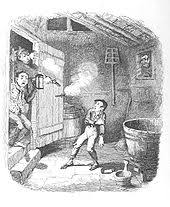Oliver Is Wounded In A Burglary By George Cruikshank