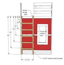 fire truck loft bed woodworking plans woodshop plans