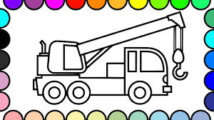 100 Truck Color Pages How To Draw And Crane Ing Vehicles And