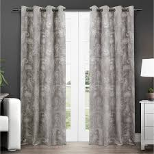 Walmart Thermal Curtains Grommet by Exclusive Home Bangalore Paisley Thermal Grommet Top Window