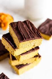 Healthy Chocolate Pumpkin Desserts by Chocolate Pumpkin Protein Bars Vegan U0026 Gluten Free Emilie Eats