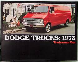 1973 Dodge Truck Tradesman Van Color Sales Brochure Original