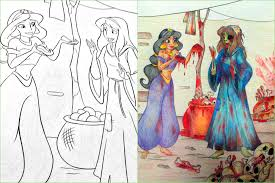 When Adults Get Their Hands On Coloring Books S Gets Disturbing