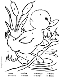 Free Duck Coloring Pages