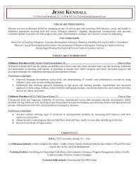 Resume For Child Care Background Skills Tips Job Examples