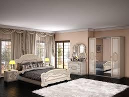schlafzimmer in beige creme barock klassik design 180x200 cm mit schrank 4 türig ohne lattenrost ohne matratze