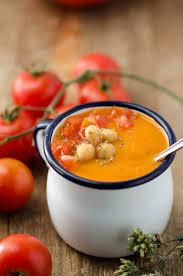 gebackene kichererbsen tomatensuppe
