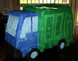 99 Game Party Truck Garbage Piata Truck Pinata Game Etsy