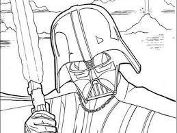 Fighting Darth Vader Coloring Pages Hellokidscom