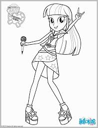 My Little Pony Equestria Girls Coloring Pages Elegant Twilight Sparkle Sings