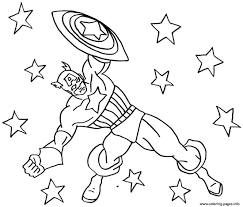Superhero Captain America 343 Coloring Pages Print Download 365 Prints