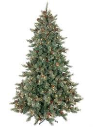 FROSTED LIGHTED PINE TREE