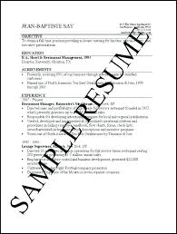 Basic Job Resume Examples Samples Of Resumes Example Simple 8
