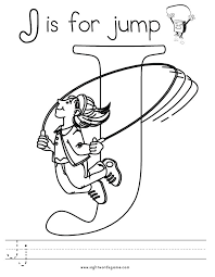 Free Coloring Pages Of The Letter J