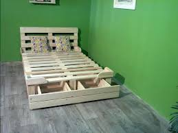 Pallet Beds With Storage Platform Bed Made From Pallets Pallet