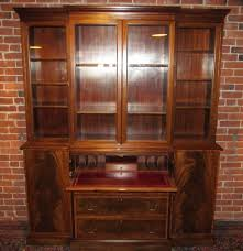 Baker Breakfront China Cabinet by Federal Style Inlaid Mahogany Beacon Hill Collection Breakfront W