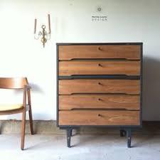 Johnson Carper Mid Century Dresser by Johnson Carper Mid Century Tallboy Dresser By Marthaleonedesign