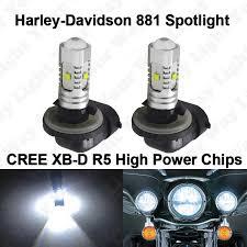 Harley Davidson Light Bulbs by 2x Xenon White 881 Spotlight Fog Led Bulbs For Harley Davidson