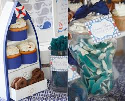Nautical Navy Whale Baby Shower Dessert Table – CW distinctive