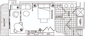 mgm signature one bedroom balcony suite floor plan meze blog
