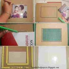 Crafts Kids Projects On Handmade Photoframerhcardsandschoolprojectsblogspotcom Cards How To Make Photo Frames With Paper