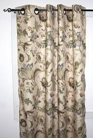 Jacobean Floral Design Curtains brissac jacobean floral print lined grommet top panel window