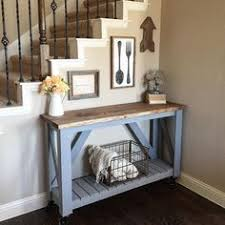 My Current Entryway Also Serves As Timeout Rug Its A Multipurpose Rustic Hallway TableSmall