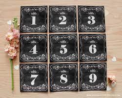 Chalkboard Table Numbers On Pinterest