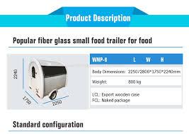 100 Food Truck Dimensions Wnp Hot Dog Cart For Sale Mobile Trailer Vending