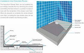 Nichols And Clarke Shower Deck Install Guide Concrete Floor
