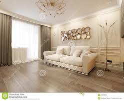 modernes klassisches beige wohnzimmer innenarchitektur stock